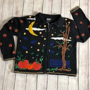 *44 Halloween Zippered Sweater